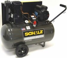 SCHULZ AIR COMPRESSOR - 2HP 125PSI 20GAL HORIZ-PORTABLE MSL-10MAX 1PH