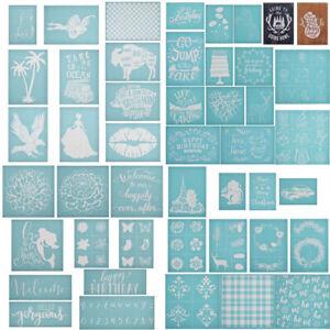 DIY Silk Screen Printing Stencil Adhesive Transfer Mesh Wood Fabric Clothing Bag