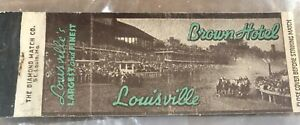VINTAGE KENTUCKY DERBY DAY EMPTY  DIAMOND MATCHBOX COVER - BROWN HOTEL