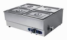 4-Pan Counter Top Warmer Bain-Marie Buffet STEAM TABLE FOOD WARMER 110V 1500W