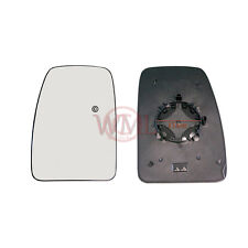 NV400 2010->2016 DOOR MIRROR GLASS SILVER, HEATED & BASE,LEFT SIDE