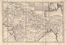 """""""Partie Superieure de l'Inde en deca du Gange"""". Northern India. BONNE 1780 map"""
