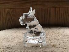 Vintage Clear Glass Scottie Dog Figurine