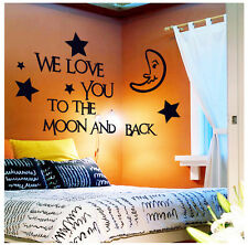 Love you Removable Vinyl Children Nursery Wall Sticker Art Decal Home Kids Decor