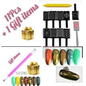 12Pcs Nail Art Cat Eye Magnetic Stick 3D Flowers for UV Gel Polish Manicure Tool