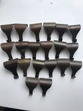 20 Vintage Brass/Copper Picture Rail Hooks - Job Lot - Vintage