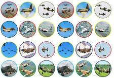 24 Battle of Britain ww2 fairy bun cup cake toppers birthdays party edible paper