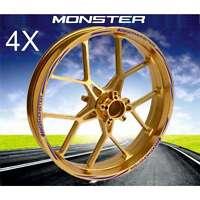 KIT ADESIVI CERCHI MOTO WHEEL BLU PROFILO RUOTA DUCATI Monster 1100 696 801