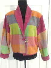 Ani by Natrual size Medium Multicolor Jacket Cotton woven vintage 90's OOAK