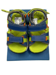 Clarks Boys Shoes sandals Size 7.5 Jollycrazy Inf blue Combi New With Box
