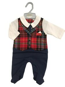 BNWT  Baby boys all in one romper babygrow chrsitmas party suit NB 0-3m 3-6m