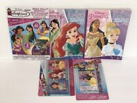 5pc Disney Princess Jumbo Coloring Activity Books Crayons Sticker Story Mulan