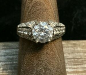 Stunning 14k White Gold Engagement Ring, Unknown Stone, 3.76g, Size 6