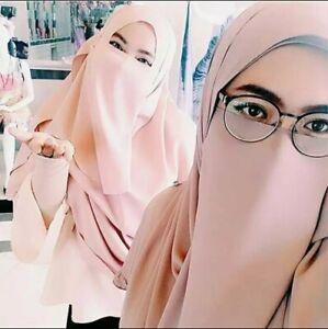 Halb Niqab Gesichtsschleier aus Jersey Stoff, verschiedene Farben