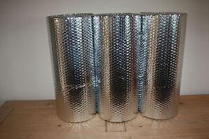 Double Foil Bubble Insulation, floor wall caravan shed loft 15m2 Free UK P&P