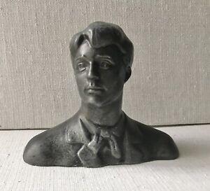 Original Sculpture, Man, Famous Poet Esenin, Bust, Male Portrait, Beauty Boy