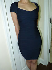Herve Leger bandage dress NEW unworn no tags XS  deep navy classic color