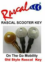 TWO (2) KEYs for Rascal Scooter Fits All Models 120 230 235 240 245 200 300 305