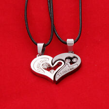 New Stainless Steel Adult Couple I Love You Heart Pendant Chain Necklace Hot