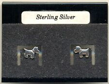 Little Dog Sterling Silver 925 Studs Earrings Carded