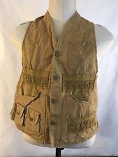 Vintage American Field Sportswear Brown Cotton Hunting Vest S/M (NC11)