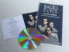 RADIO ELVIS - LES CONQUETES !!! PLV/DISPLAY 14 X 25 CM + PROMO CD