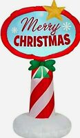Gemmy 3.5' Led Merry Christmas Sign Christmas Inflatable Indoor Outdoor Decorate