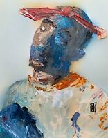 Abstract Portrait Tupac Shakur Hip Hop Rap Music Wall Art Original Painting