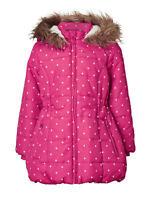 John Lewis Girls' Star Print Longline Coat, Pink SIZE 9 YEARS