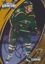 2002-03 BAP Signature Series Hockey AUTO Gold #85 Cliff Ronning Minn. Wild