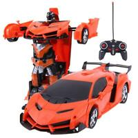 2 in 1 Wireless RC Remote Control Car Model Deformation Robot Kids Toy Gift Toys