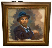 Frank Sinatra Portrait Original Oil Painting By Chicago Artist Thomas Joyce