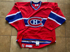 Montreal Canadiens Nhl Starter Authentic Hockey Jersey Men 48 W/Fight Strap
