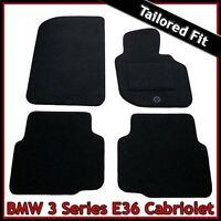 BMW 3-Series E36 Convertible 1992-1998 Tailored Carpet Car Floor Mats BLACK