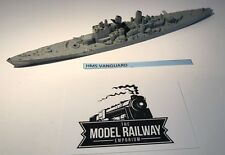 VINTAGE TRIANG MINIC SHIPS - M741 - HMS VANGUARD - RARE UNBOXED DIECAST