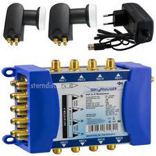 9/8 Multi-Switch Alimentatore + 2 Quattro LNB 0 1dB 8 connessione skyrevolt Set