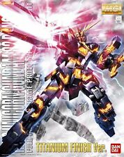 BANDAI MG 1/100 UNICORN GUNDAM 02 BANSHEE Titanium Finish Model Kit Gundam UC