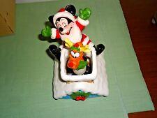 Disney Santa Mickey Mouse Reindeer Pluto Musical Music Box