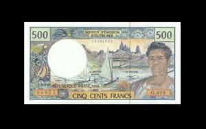 """1992 FRENCH PACIFIC TERRITORIES 500 FRANCS """"G"""" (( aUNC ))"""