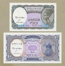 EGIPTO - 5 & 10 piastras L.1940/2008 P188/189 Que no ha circulado ( Billetes )