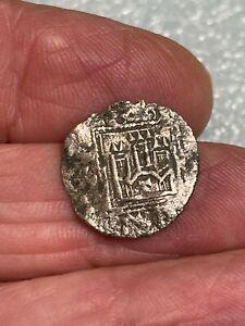 1281 Pirate Cob Coin Silver Billon Spanish Colonial Shipwreck Treasure Era #1-Z