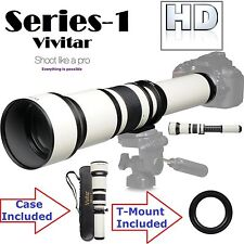 Vivitar 650-1300mm Telephoto Zoom For Sony Alpha DSLR-A390 DSLR-A100 DSLR-A200