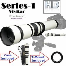 Ser-1 Vivitar 650-1300mm Telephoto Zoom For Canon EOS Rebel T6s T6i T4i T1i T2i