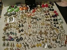 VINTAGE MODERN ESTATE JUNK DRAWER LOT~125 PAIRS PIERCED EARRINGS~WEAR/RESELL