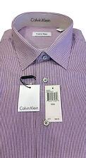 Calvin Klein Dress Shirt Size 18 x 34/35, Viola, 100% Cotton, Spread Collar