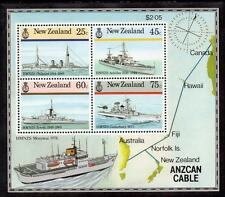 New Zealand MNH 1985 New Zealand Naval History M/S