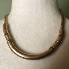 ~NWT~$75~KENNETH COLE NEW YORK~MATTE GOLD TONE BAR ON SNAKE CHAIN NECKLACE~BOLD~