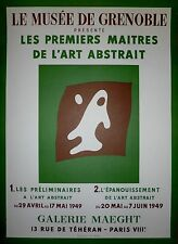 Hans Arp Affiche Lithographie Mourlot art abstrait Grenoble 1949 abstraction