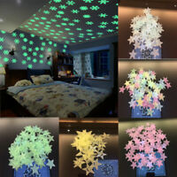 Glow In The Dark Star Wall Stickers Star Moon Luminous Kids Room Decor