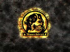 LED Schild Wandbild Hundzüchter Berner Sennenhund Welpen buch Zucht Welpe Hund